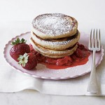 Healthy Pancakes with Strawberry Syrup