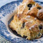 Glazed Blueberry Scones