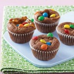 Easy Chocolate Muffins With Snickers and M&M's