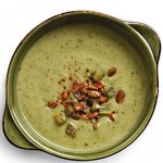 Avocado Soup with Grilled Poblanos & Yogurt