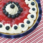 4th of July – Red White & Blue Strawberry Blueberry Pie