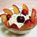 Peach & Cherry Delight With Lavender Mascarpone Cream