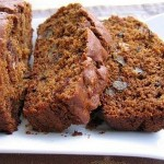 Spiced Quick Bread with Persimmons Dates & Walnuts