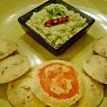 Vegetable Rava Idlis with Cilantro Coconut Chutney