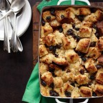 Bread Pudding With Rum Raisin Custard Sauce