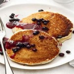Sour Cream Pancakes With Blueberry Sauce