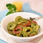 Cheese Tortellini with Pesto Sauce