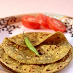 Broccoli & Green Peas Parathas (Flatbreads)