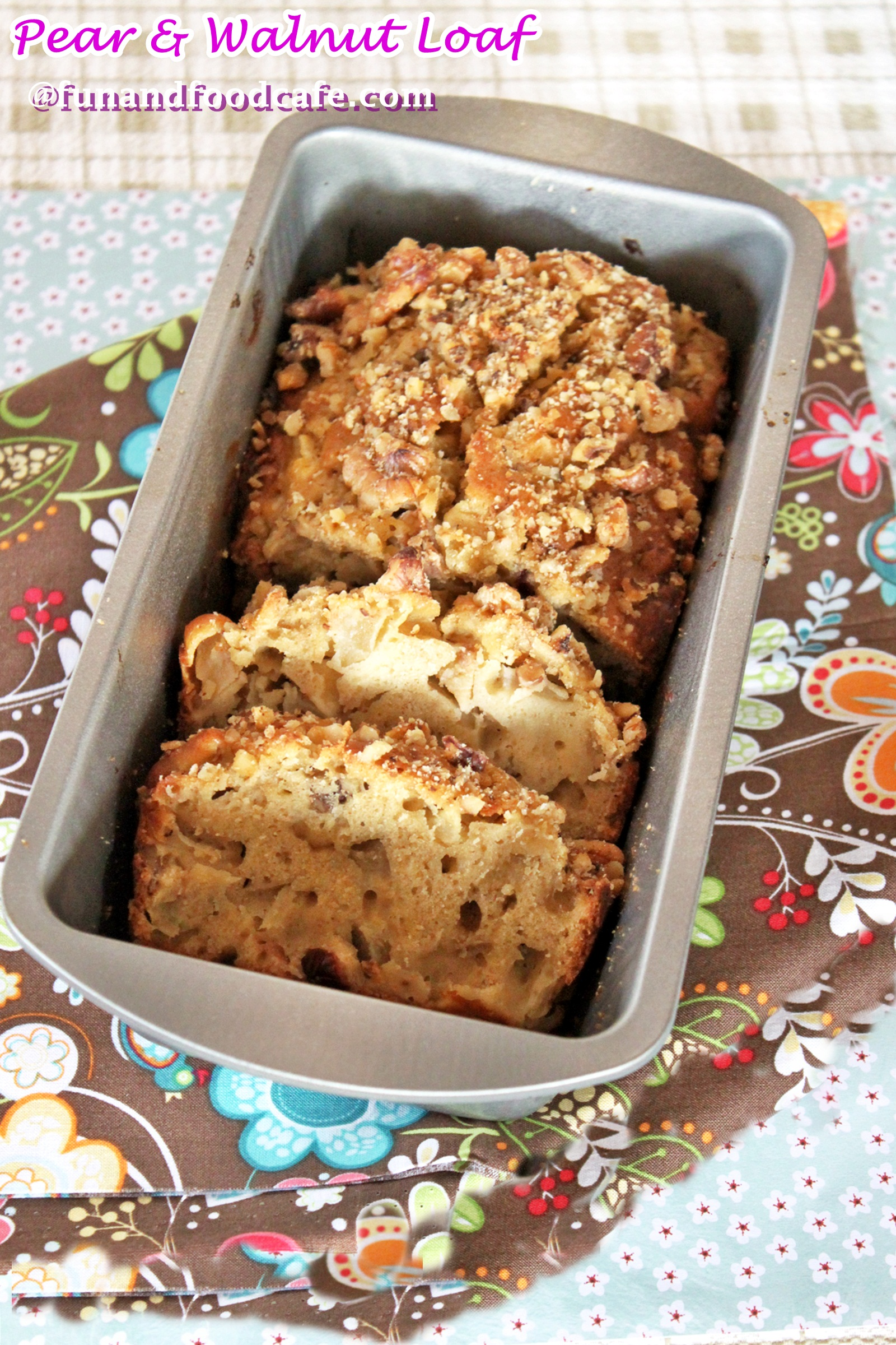 Pear-Cranberry-Walnut-Bread