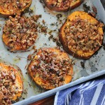 Baked Sweet Potatoes with Pecans & Cheese