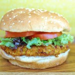 Spicy Sweet Potato Veggie Burger