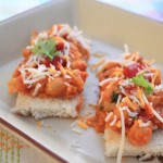 Curried Chickpeas & Cheese Bruschetta