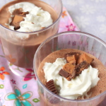 Frozen Peanut Butter Hot Chocolate