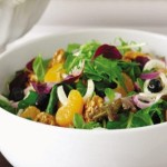 Mixed Green Salad with Mangoes & Candied Walnuts