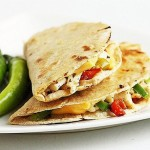 Quesadilla Recipe with Paneer Spinach & Roasted Peppers