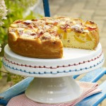 Peach Cake With Pecan Crumble Topping