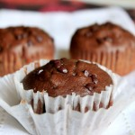 Whole Wheat Dark Chocolate Muffins