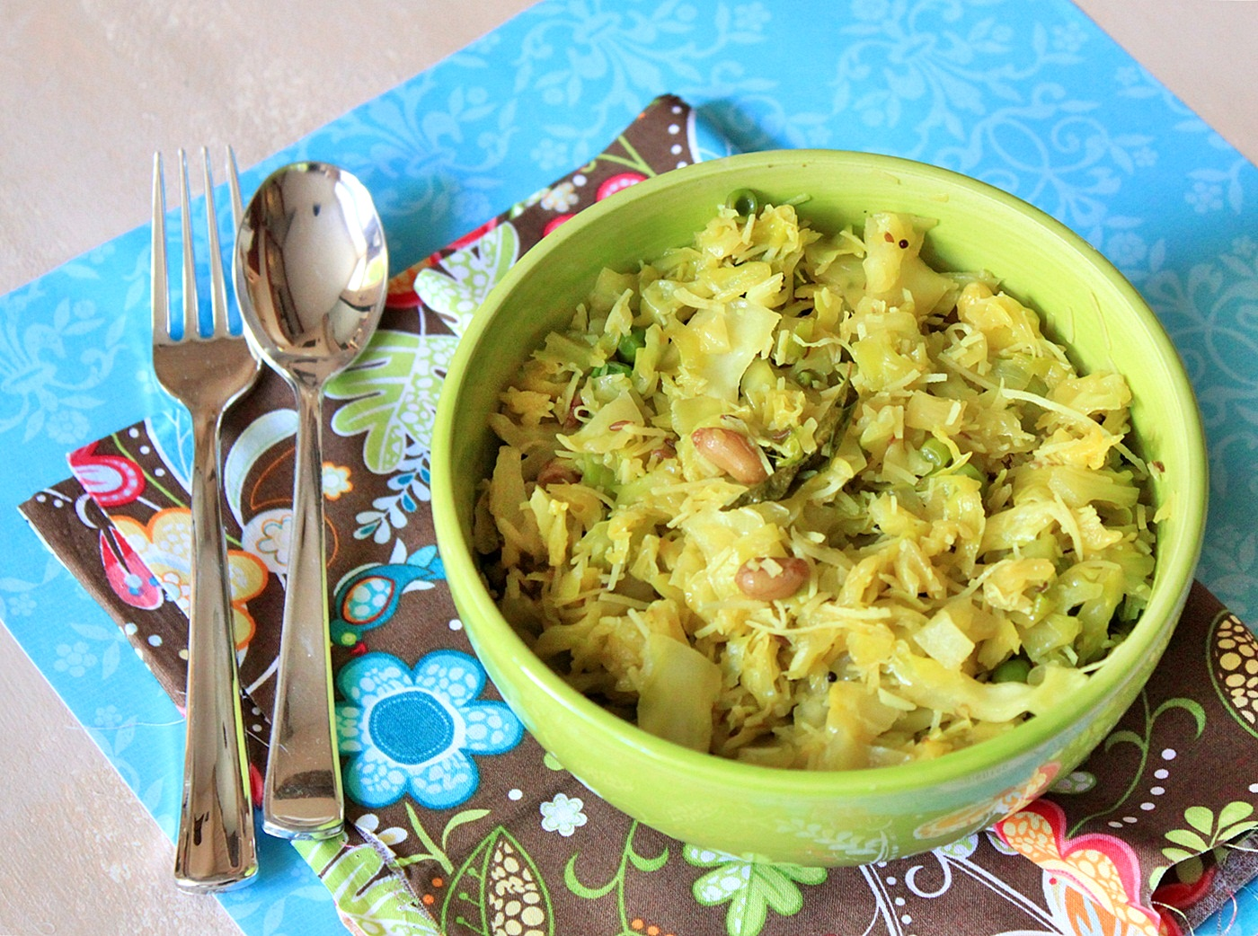 Cabbage recipe fun and food cafe kerala style cabbage thoran forumfinder Gallery