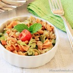 Pasta With Creamy Avocado Mint Pesto Sauce
