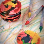 DIY: Multi-Colored Melted Crayon Discs