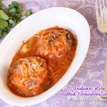 Stuffed Tomatoes In Indian-Style Gravy