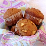 Apple Date & Walnut Muffins