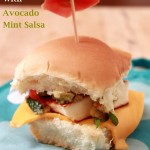 Grilled Paneer Sliders With Avocado Mint Salsa