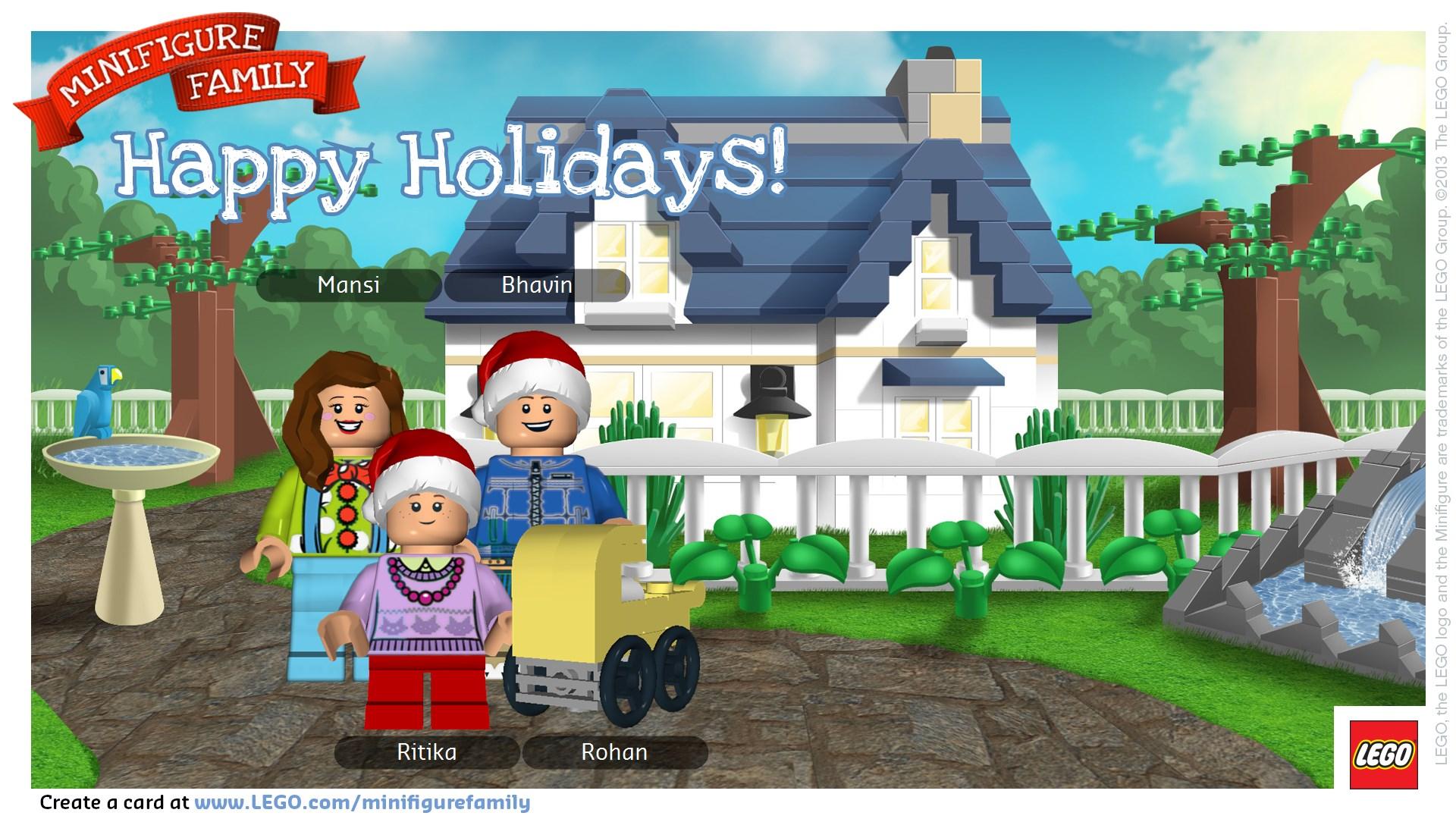 LEGO Minifigure Holiday Card | Fun and Food Cafe
