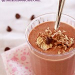 Deliciously Healthy Chocolate Cookie Crumble Smoothie