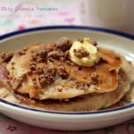 Chocolate & Peanut Butter Granola Pancakes