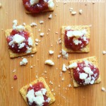 Appetizer Crisps with Cran-Apple Chutney & Aged Havarti