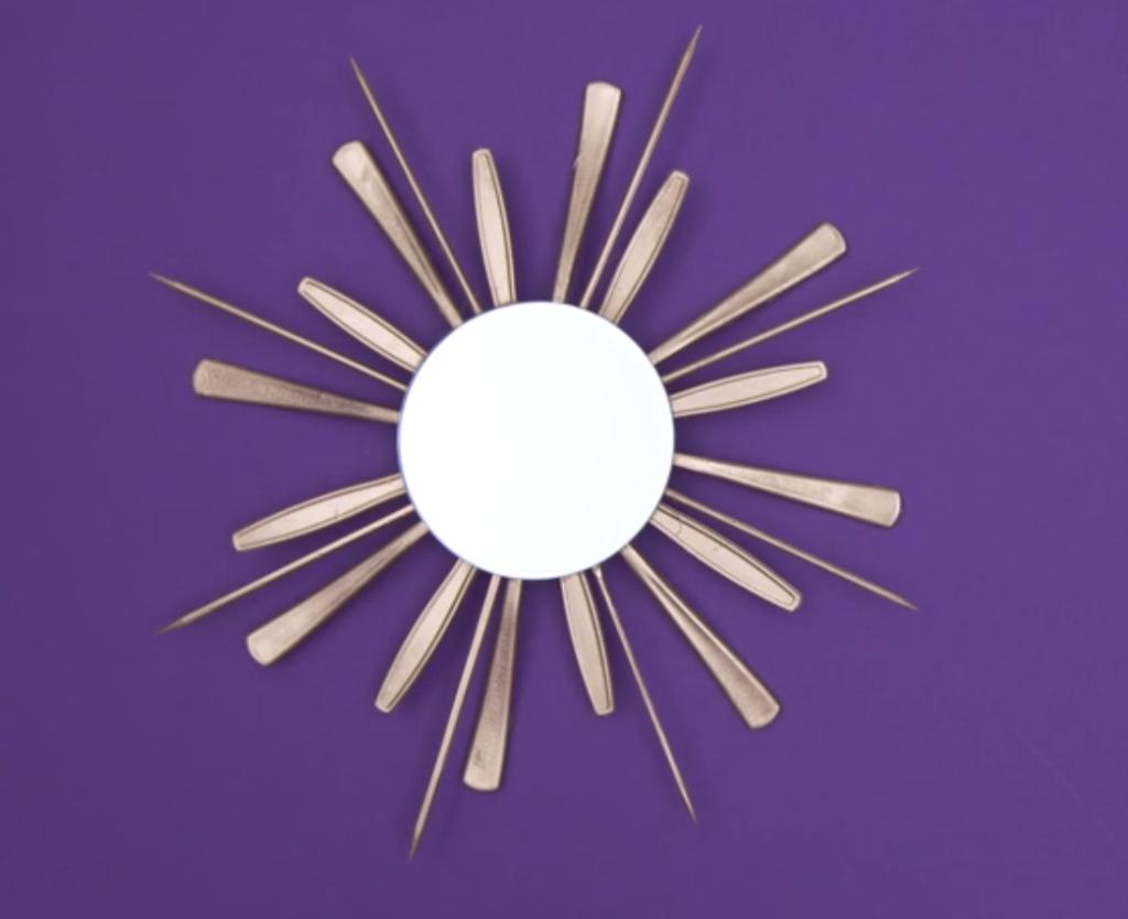 DIY-sunburst wall mirror