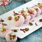 Rose Sandesh (Indian Dessert Made with Cottage Cheese)